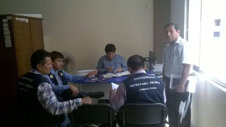 Con el Gerente de la Municipalidad de Sechura y el Sr. Jefe de Serenazgo Municipal