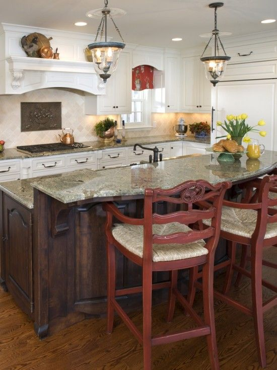 20 best images about french country counter stools on for Country kitchen island designs