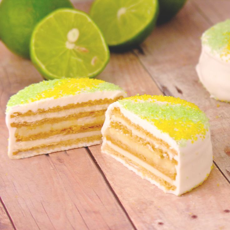 Layers of cookie, key lime pie filling, and white chocolate make these an…