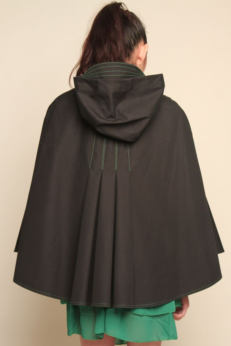 Hooded Rain Cape.