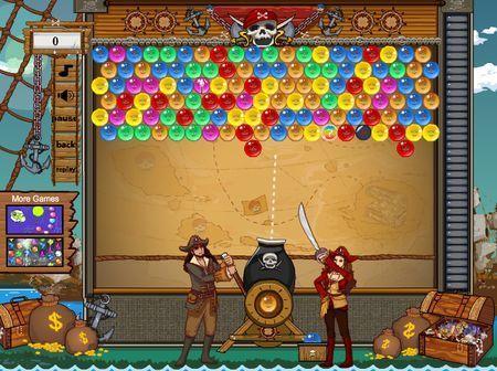 Bubble Bobble gratis online: Pirate Bobble | Games4all