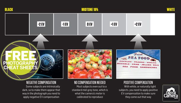 Our photography cheat sheet shows how your camera's metering system can be fooled and how using exposure compensation can rescue your images