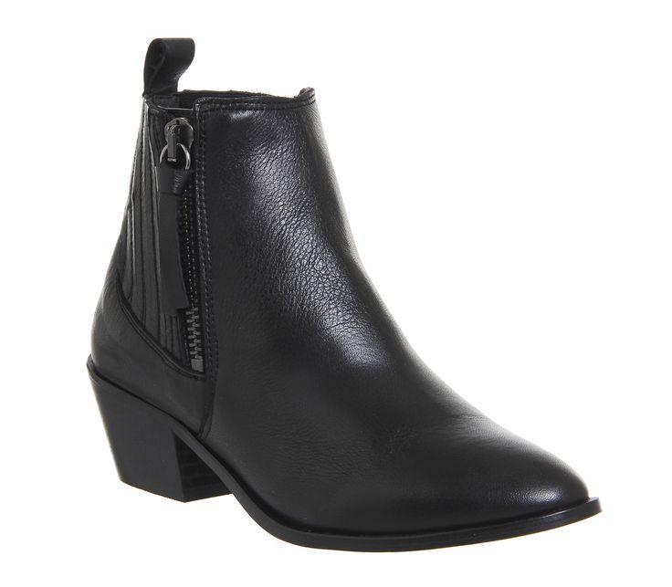 Luca Side Zip Western Boots