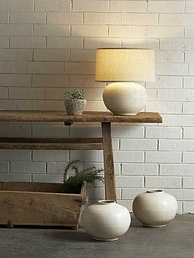Photo Gallery Website Reproduction Henan Creme Vase Lamp Size is overall base and shade Ships with Linen