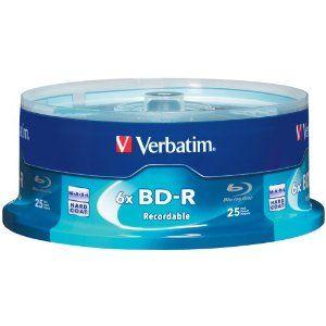Amazon.com: Verbatim 97457 25 GB 6x Blu-ray Single Layer Recordable Disc BD-R, 25-Disc Spindle: Electronics