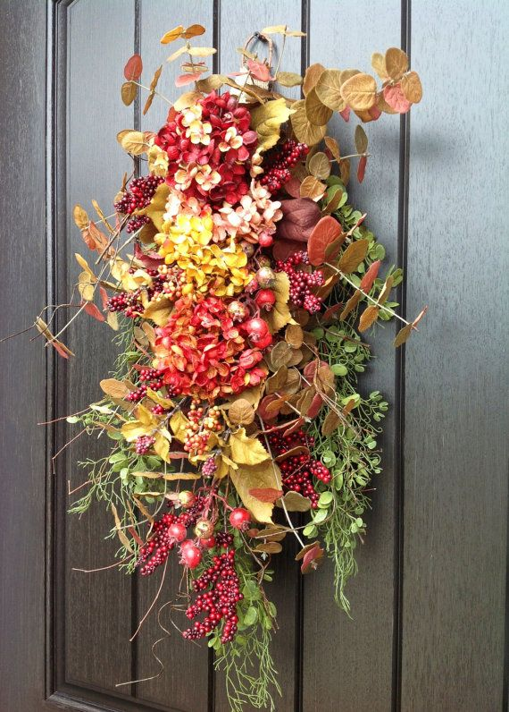 1000 Images About Fall Door Swags On Pinterest Front