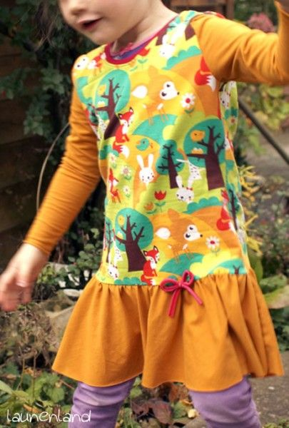 lillesol & pelle Schnittmuster/ pattern: Herbstkombi Kleid & Shirt: have only a fat quarter of that adorable fabric? use it well!