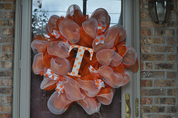 Tennessee vol deco mesh wreath by thejazzyjunebug on etsy vols pinterest deco mesh - Deco vol ...