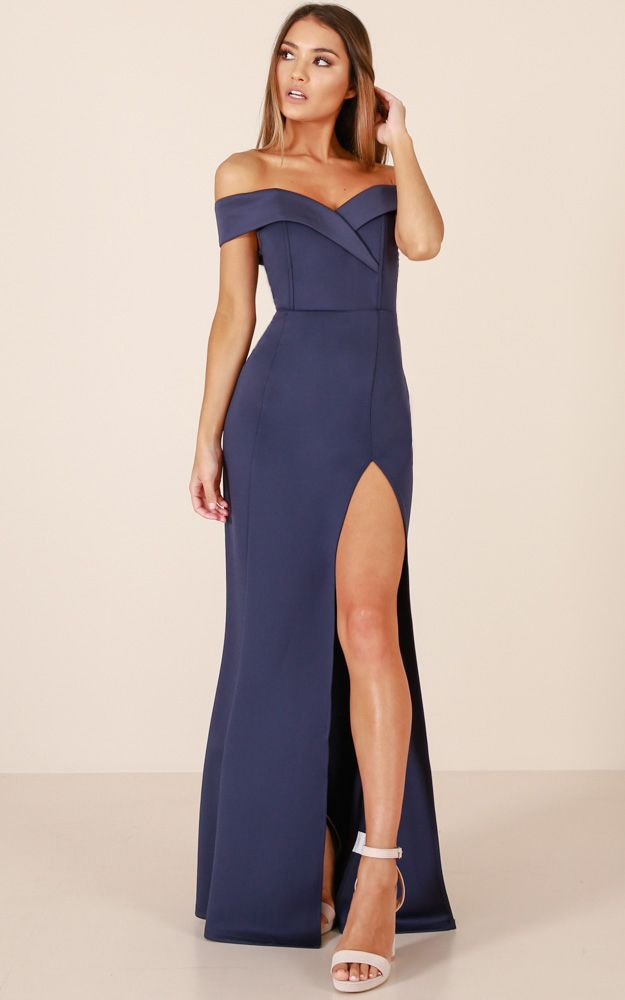 1b0a3aeb150 This Gorgeous dress is Super stylish and sexy with a side split on the leg  and off the shoulder sleeves