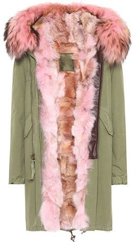 Mr & Mrs Italy Fur-trimmed cotton parka #womensfashion #winterfashion #winter2017 #pink #fashion #fashion2017 #fakefur #fur #fauxfur