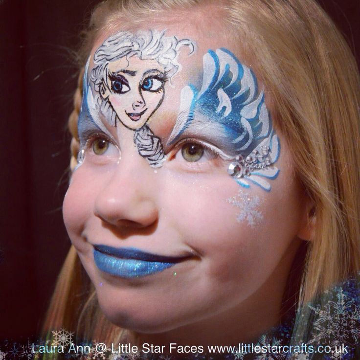 119 best princess inspirations images on pinterest face for Frozen face paint