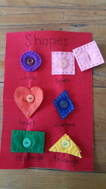 Shapes buttoning page