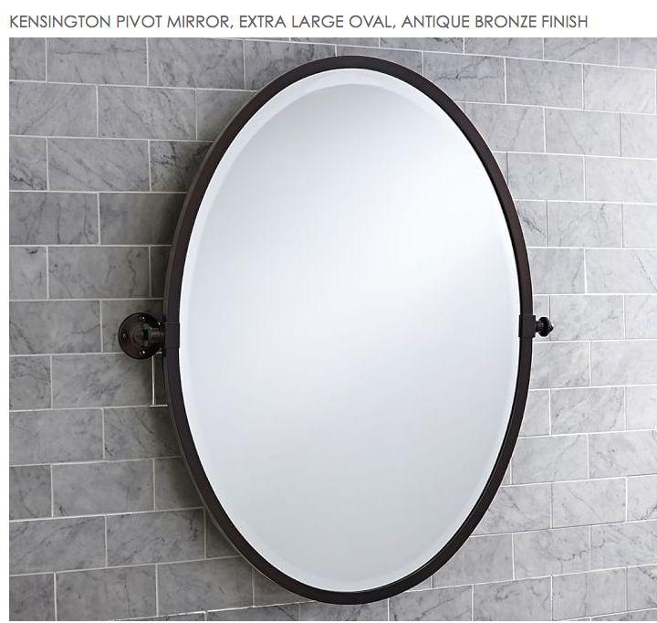 Kensington Pivot Bronze Oval Mirror For Master Bathroom