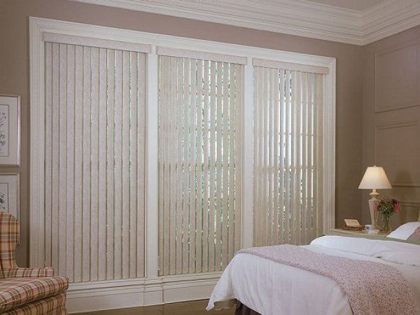 Here are some sliding glass door window treatments with vertical blinds.