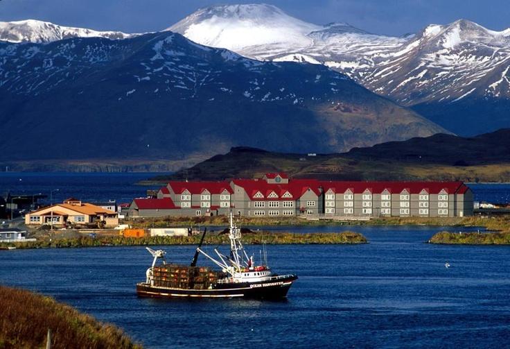 The Grand Aleutian Hotel & Unisea Inn, Dutch Harbor (part of the Aleutian Islands), Alaska.