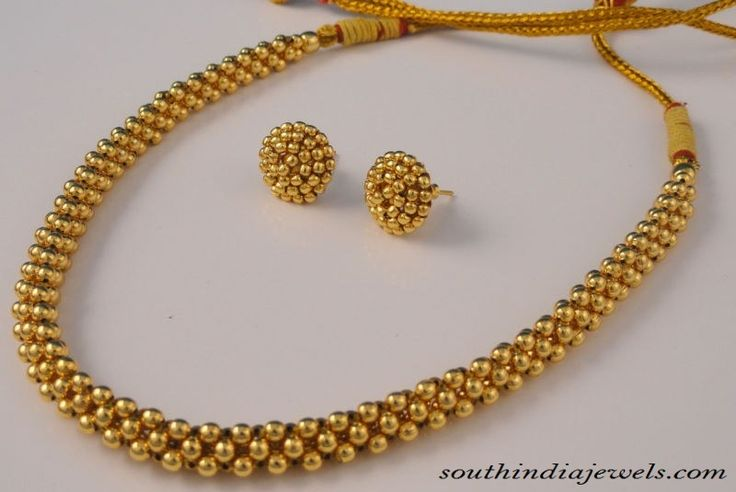 Maharashtrian Jewellery : Clustered Necklace ~ South India Jewels