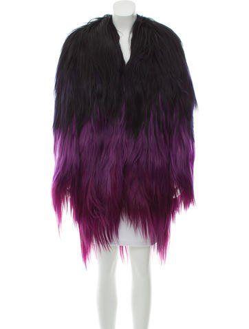 9b0185a5c9049 Ombr  Goat Hair Coat Reptile Skin