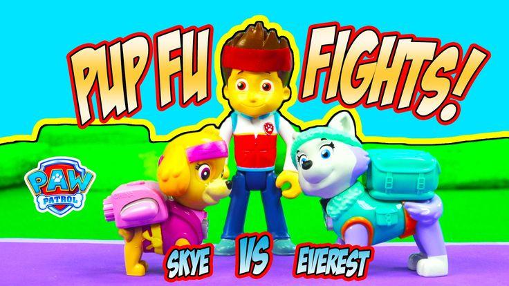 PAW PATROL PUP FU KUNG FU FIGHTS SKYE VS EVEREST PLAYTIME