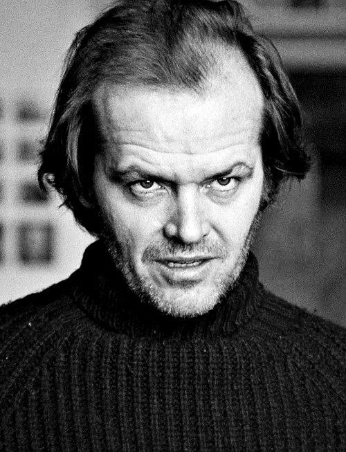"""Jack Nicholson improved with age. Maybe he softened. Anyway, I like his """"evil"""" eyebrows."""