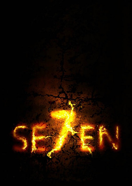 Seven (1995) - Two detectives, a rookie and a veteran, hunt a serial killer who uses the seven deadly sins as his modus operandi.
