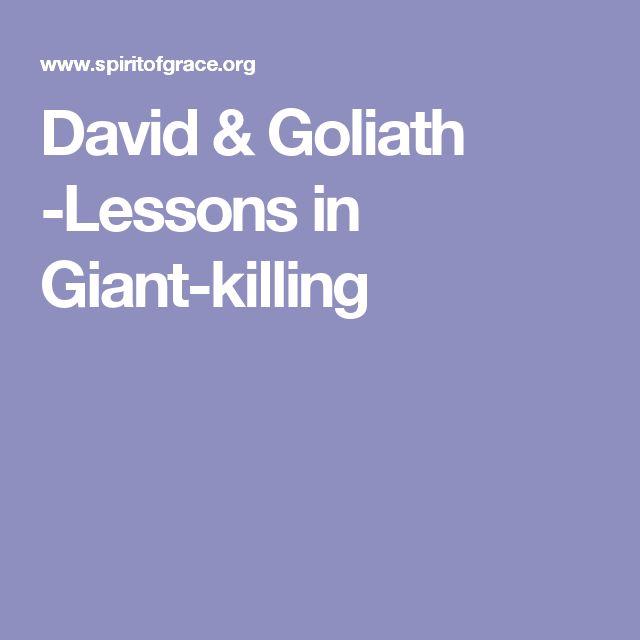 David & Goliath -Lessons in Giant-killing