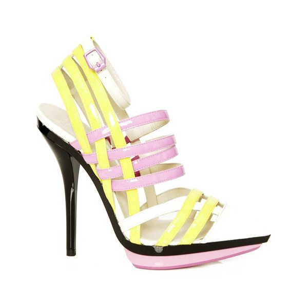 pink&yellow - Polyvore: Sensual Shoes, Pink Yellow, Versace Shoes, Bout Shoes, Haute Shoes, Accessories, 2013 Collection