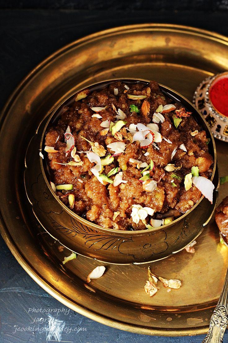 Rajgira-Rajgro  Panchratna Sheero / Seero / Halwa - Amaranth flour Pudding