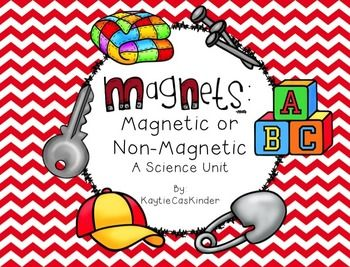 Magnetic or Non-Magnetic is the perfect unit to help your little learners learn everything they need to know about what a magnet is, how it works, and being able to identify the difference between items that are magnetic and non-magnetic.  Pg. 3 - 10: Definition Cards: 1/2 page title cards and definitions for magnet, magnetic, non-magnetic, force, poles, attract, repel, and magnetic field.