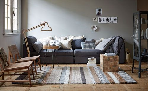 Kivik chaise longue van ikea als bank wooninspiratie pinterest chaise longue living - Bank beige ikea ...