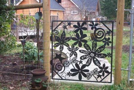 Decorative gate.