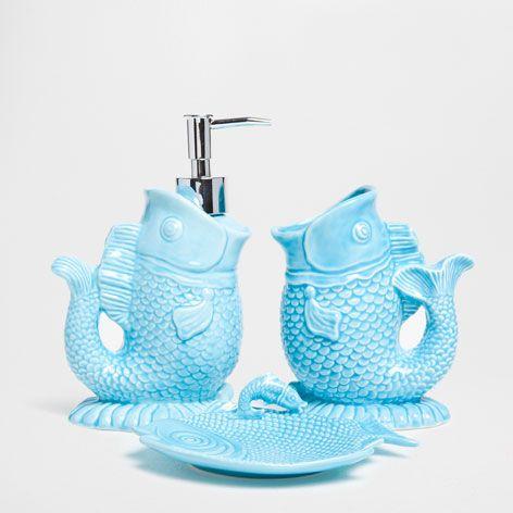 Fish Shaped Bathroom Set