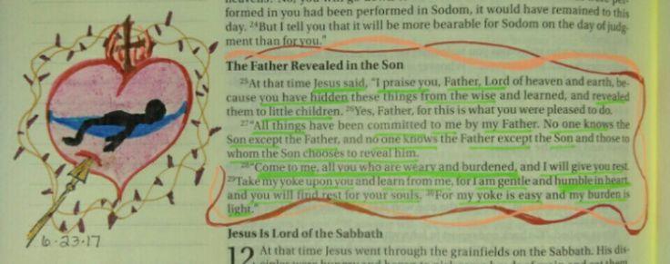 Matthew 11:25-30, 6/23/17