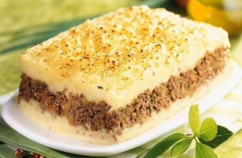 Pastel de carne con pure de patata