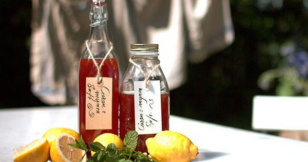 Gör din egen citronsaft (lemonad). Både enkelt och supergott! Ernsts recept görs med massor av citron, mynta, muscovadosocker och rörsocker.