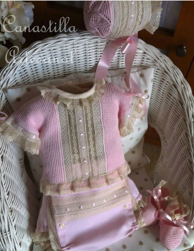 102 best images about ropa bebes y ni as on pinterest - Canastilla artesanal bebe ...