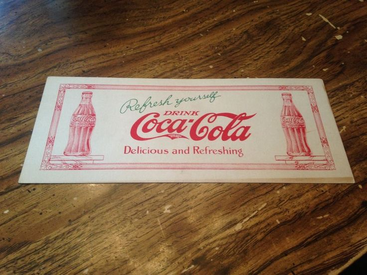 "Coca Cola blotter ""Rare"" early 1900's 