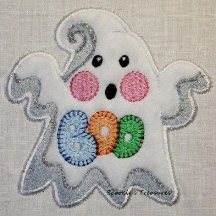 STE010_08  http://www.spookiestreasures.com/products/applique-little-ghost-4x4-7