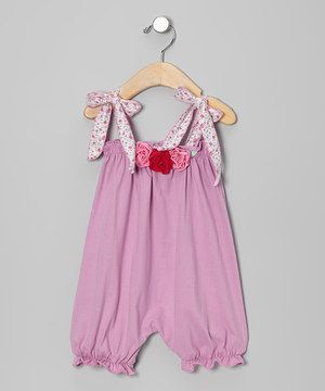 Look at this #zulilyfind! Victoria Kids Lilac Rosette Bubble Romper - Infant & Toddler by Victoria Kids #zulilyfinds