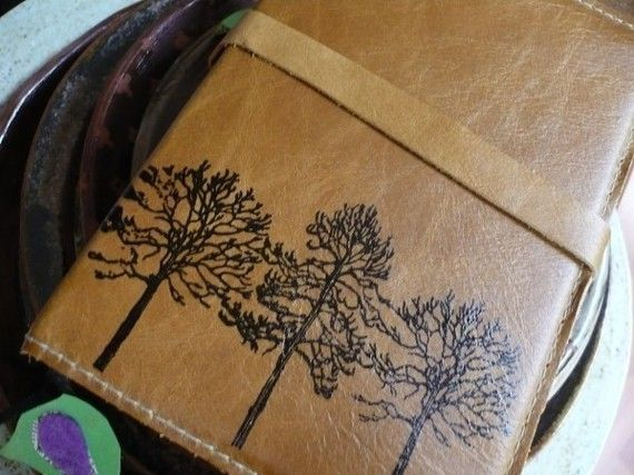 forest leather journal