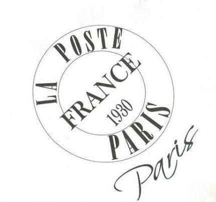 french graphic postal cancel stamp