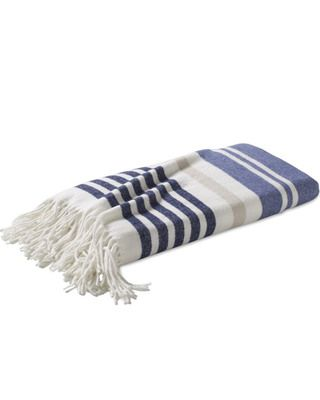 The color in this throw make it a year-round favorite! Get it here: http://www.bhg.com/shop/williams-sonoma-cotton-woven-stripe-throw-p505c207182a71c80fdfd6d2d.html?mz=a