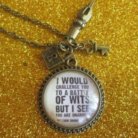 Shakespeare Quote Necklace