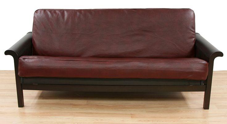 Bordo Faux Leather Futon Slipcover