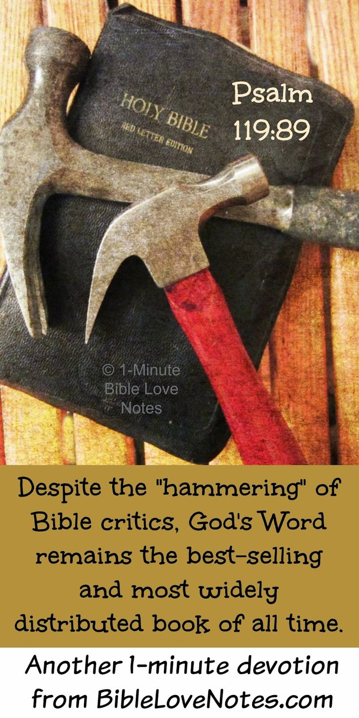 Despite the unrelenting criticism of the Bible it has stood the test of time and accuracy This devotion contains a poetic praise of God s eternal Word