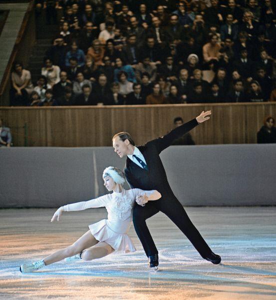 Ludmilla Belousova és Oleg Protopopov , kétszeres olimpiai bajnok(1964,1968) és négyszeres világbajnok (1965-1968) jégtánc páros