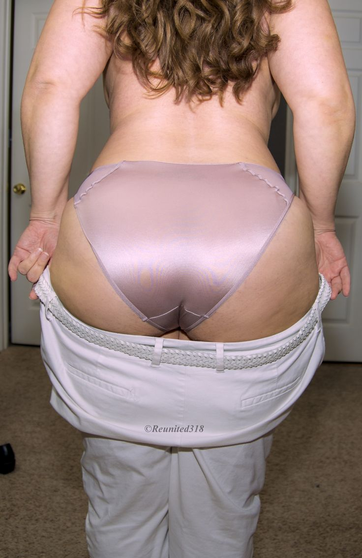 Satin panty butts