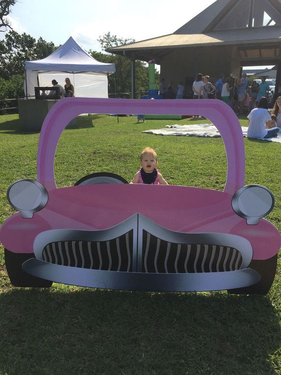 Pink GREASE inspired EXtra Large Car Photo Booth by LMPhotoProps