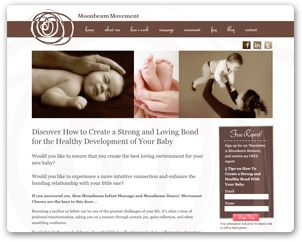 Moonbeam Movement's web site, designed by nrichmedia