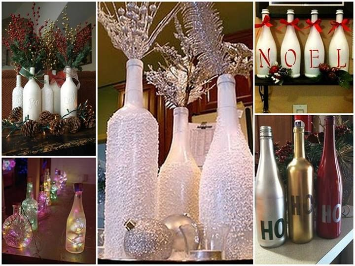 garrafas natalinas