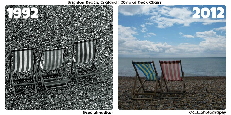 20yrs of deck chairs on Brighton beach UK, taken by @Carly Thompson and me